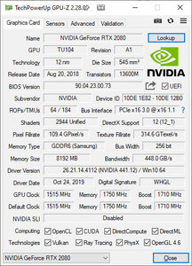 Screenshot de l'interface GPU-Z