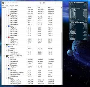 Screenshot de l'interface Open Hardware Monitor