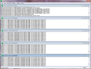 Screenshot de l'interface Prime95