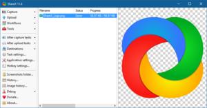 Screenshot de l'interface ShareX