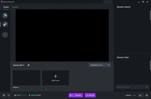 Screenshot de l'interface Xsplit